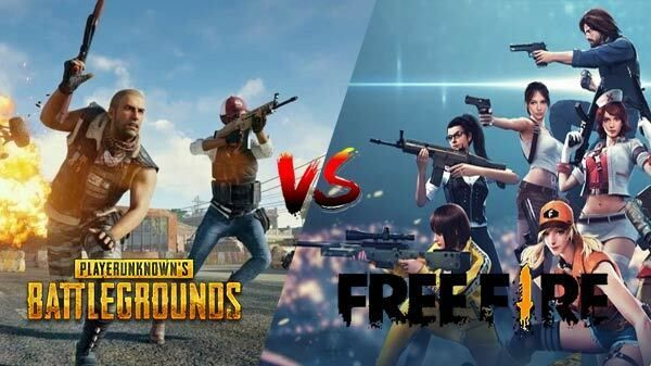 PUBG Mobile vs Free Fire: What's the difference?