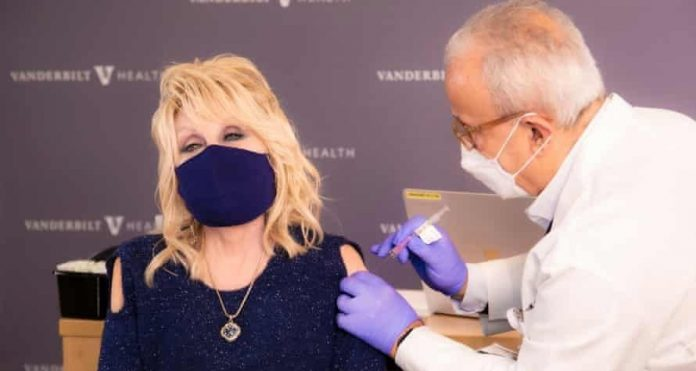Dolly Parton gets coronavirus vaccine that she helped fund, Report